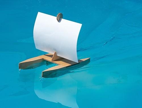 Kraul Kari Bausatz Segelboot Spielzeug