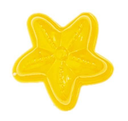 NIC Sandspielzeug Relief-Sandform Seestern, gel Spielzeug