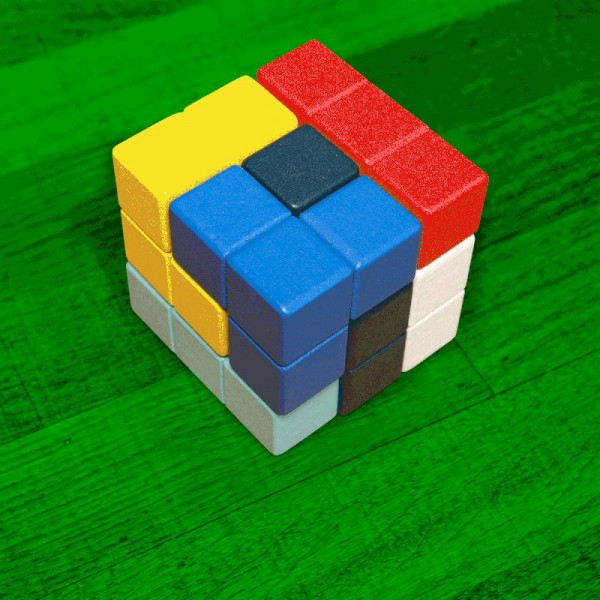 KIKKERLAND Block Cube 3D Puzzle Spielzeug