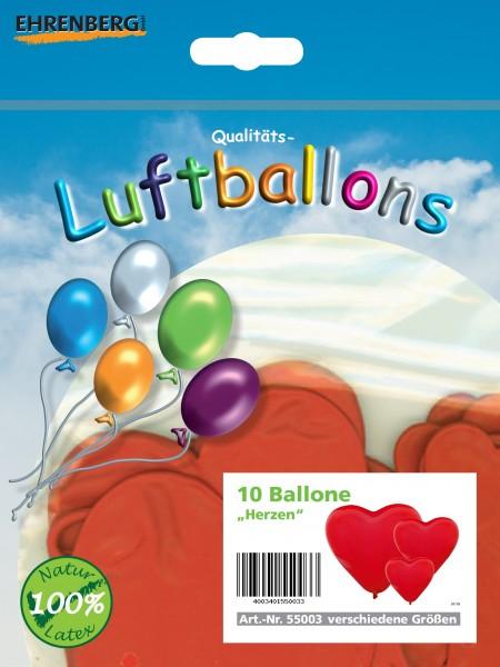 Aurich 10 Herzballon,sort,SB-Btl/Ktn Spielzeug