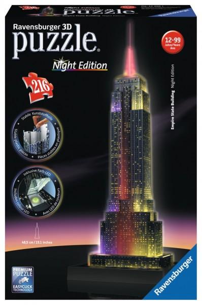 Ravensburger 3D Puzzle Empire State Bridge bei Nacht Spielzeug