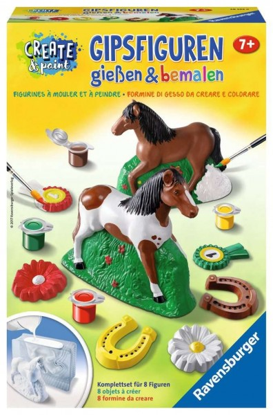 """Ravensburger Create & Paint """"Pferd"""" – Gipsfiguren gießen und bemalen Spielzeug"""