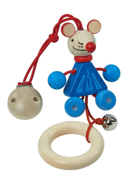 nic Mausi mit Holzclip zum Hängen Spielzeug