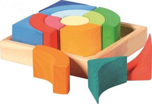 NIC Baukasten Quadrat Kreise Spielzeug