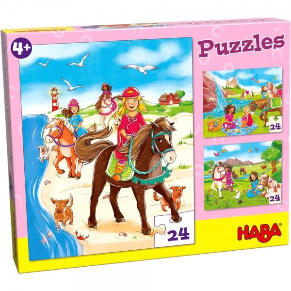 Haba Puzzles Pferdefreundinnen Spielzeug