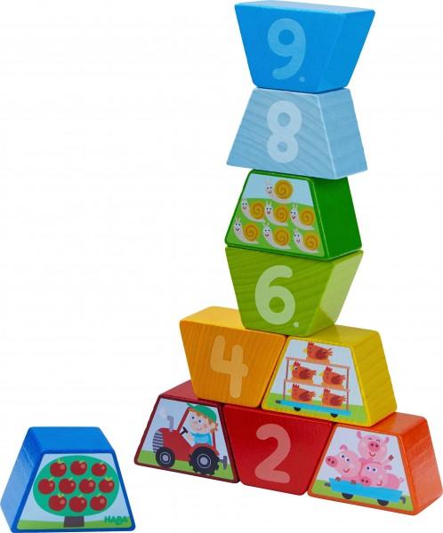Haba Legespiel Zahlen-Bauernhof Spielzeug