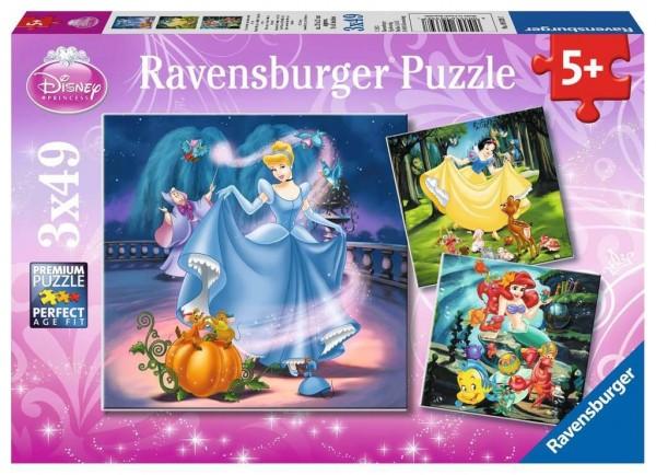 Ravensburger Schneewittchen, Aschenputtel und Arielle 3x49 Teile Spielzeug