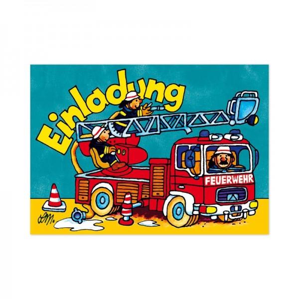 Lutz Mauder Verlag Kindergeburtstag-Einladungskarten Benny Brandmeister Spielzeug