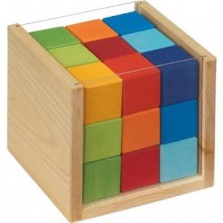 nic Bunte Würfel im Kasten, 27 Teile Spielzeug