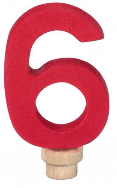 NIC Geburtstagsring Zahl 6 Spielzeug