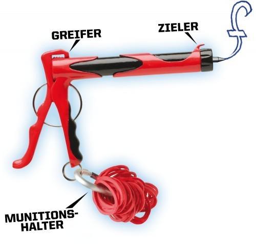 Leif Micro Blaster Gummiband Schleuder mir Kuli-Funktion Spielzeug