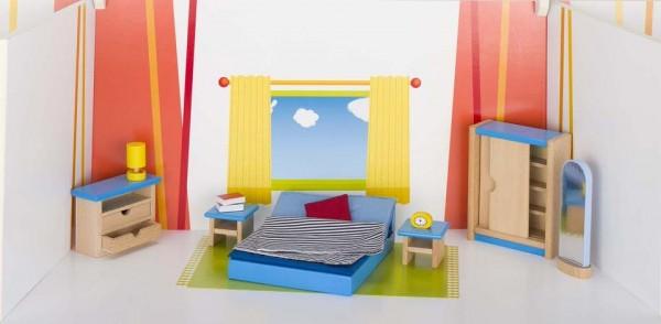 Goki Puppenmöbel Schlafzimmer Spielzeug