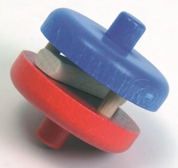 NIC Multibahn Kugelbahn Klapperscheibe rot/blau Spielzeug