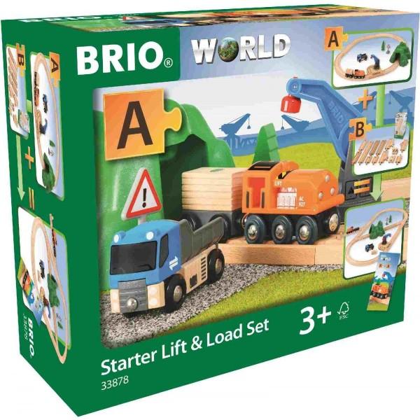 Brio Starterset Güterzug mit Kran Spielzeug