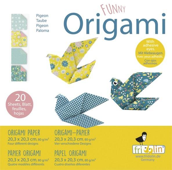 Fridolin Funny Origami Tauben 20x20 Spielzeug