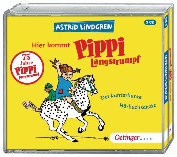 Oetinger Verlag Hier kommt Pippi Langstrumpf Der kunterbunte Hörbuchschatz (3CD) - Ungekürzte Lesung Spielzeug