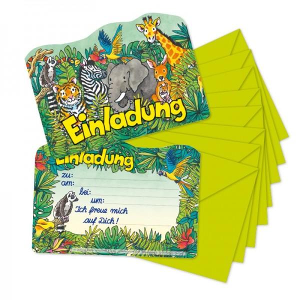 Mauder Lutz Verlag Stanzkarte Einladungsset Zoo Spielzeug