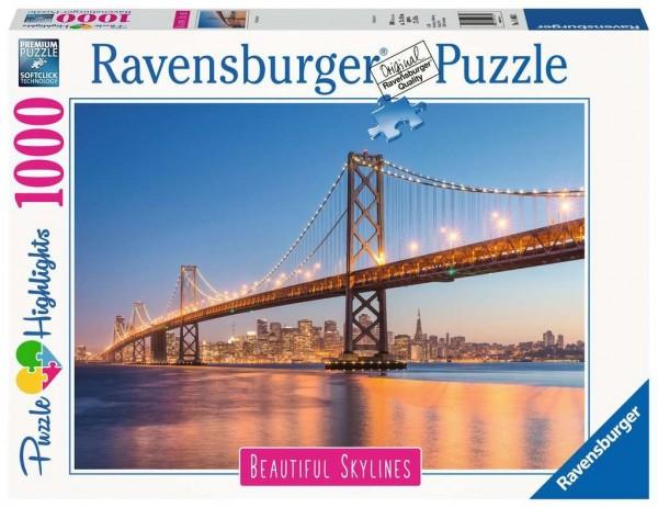 Ravensburger Spiele Puzzle - San Francisco - 1000 Teile Erwaschsenenpuzzle Spielzeug