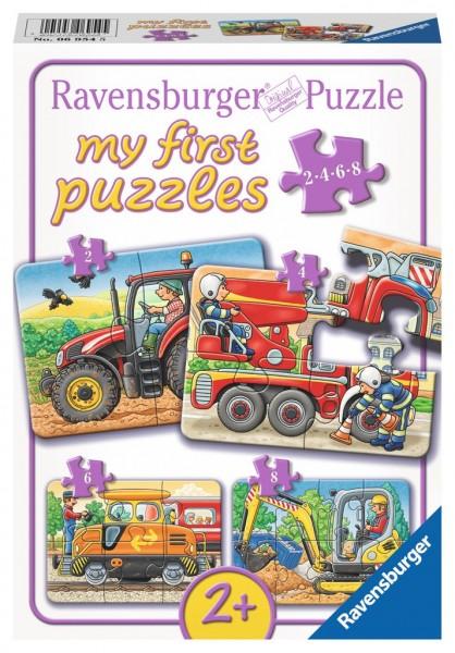 Ravensburger Bei der Arbeit my first puzzles 2,4,6,8 Teile Spielzeug