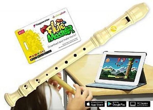 Voggenreiter Flute Master (App) mit Blockflöte (dt. Griffweise) Spielzeug