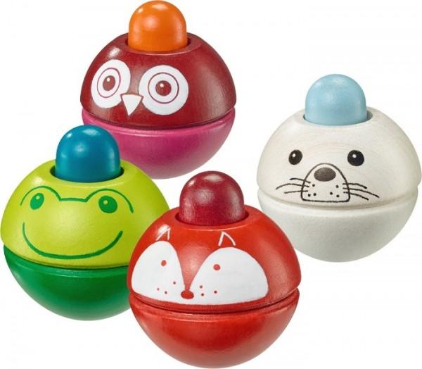 Schmidt Spiele Animino, Quietschkugel, Tiere Babywelt Spielzeug