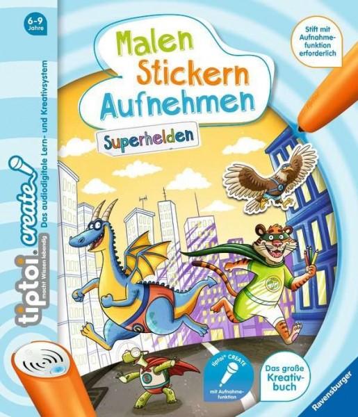 Ravensburger tiptoi® CREATE Malen Stikern Aufnehmen: Superhelden Spielzeug