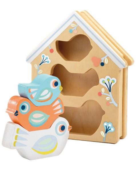 DJECO Baby White: BabyBirdi Spielzeug