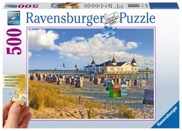 Ravensburger Puzzle Strandkörbe in Ahlbeck 500 Teile Spielzeug