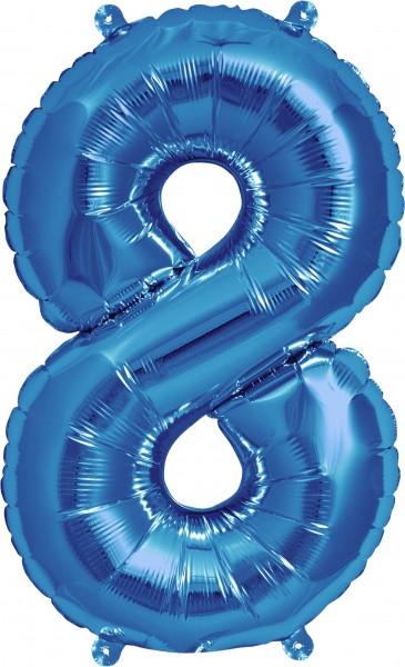 Aurich Folienballon 8 magenta Spielzeug