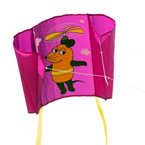 "elliot Mini Pocket Kite Maus ""Flieger"" lila Spielzeug"