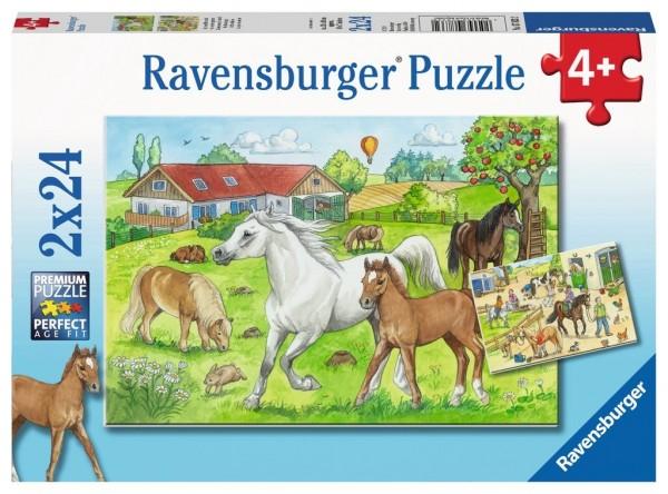 Ravensburger Spieleverlag Kinderpuzzle - Auf dem Pferdehof 2x24 Teile Spielzeug