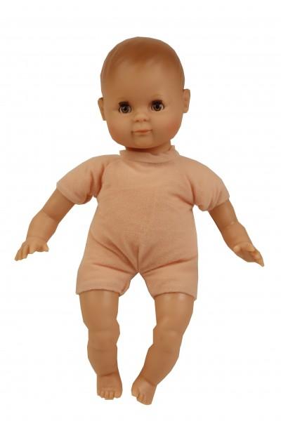 Schildkröt Puppe Schlummerle 32 cm mit Malhaar und braunen Schlafaugen, Overall weiß/braun/rose mit Giraffendru Spielzeug