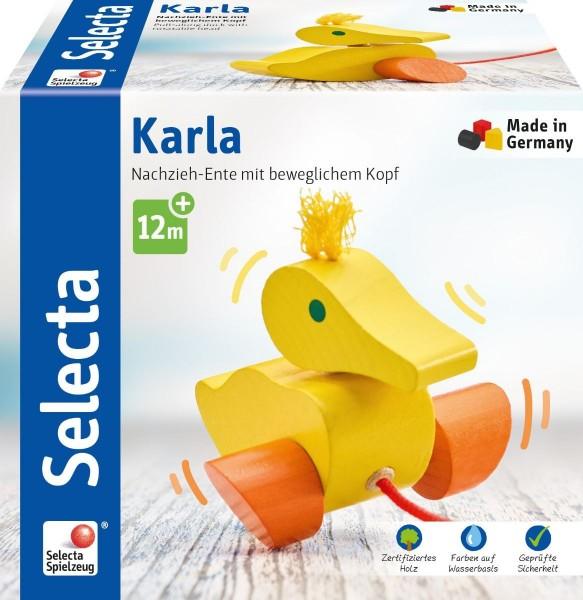 Schmidt Spiele Karla, Nachzieh Ente, 10 cm Spielzeug