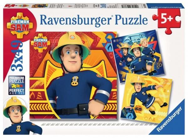 Ravensburger bei Gefahr Sam rufen 3x49 Teile Spielzeug