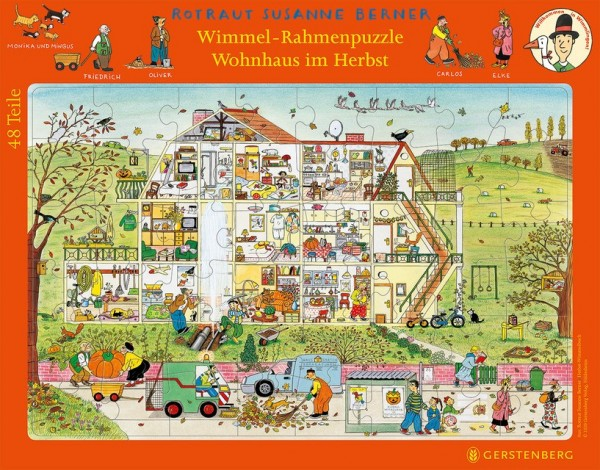 Gerstenberg Wimmelrahmenpuzzle Winter 48 Teile Spielzeug