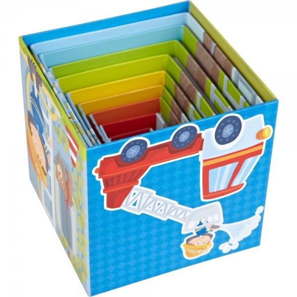 Haba Stapelwürfel Feuerwehr Spielzeug