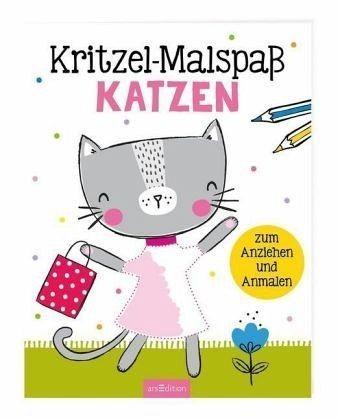 ars Edition Kritzel-Malspaß Katzen Spielzeug