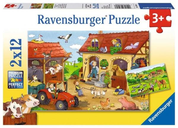 Ravensburger Fleißig auf dem Bauern Puzzle 2 X 12 Teile Spielzeug