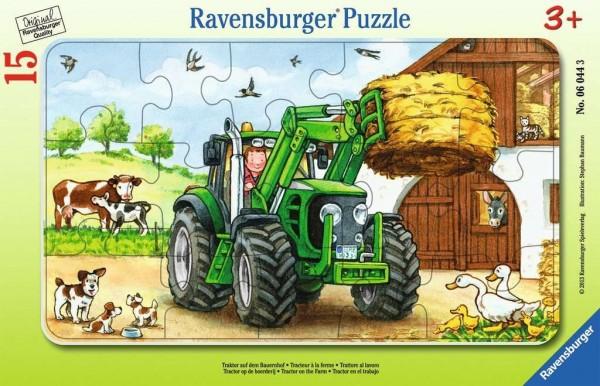 Ravensburger Traktor auf dem Bauernhof Rahmenpuzzle 15 Teile Spielzeug