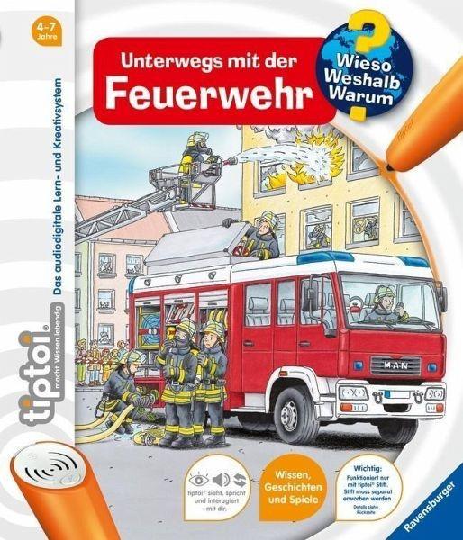 Ravensburger Spiele tiptoi® WWW Unterwegs mit der Feuerwehr (Band 6) Spielzeug