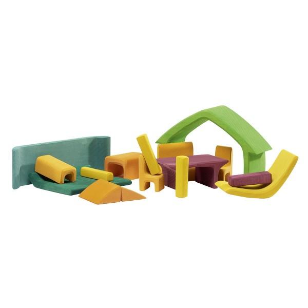 nic Haus mit Möbel, grün/rose Spielzeug