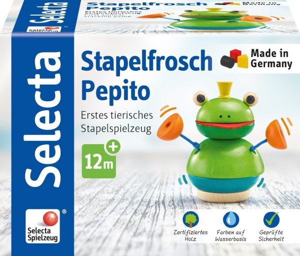 Schmidt Spiele Selecta Stapelfrosch Pepito Spielzeug