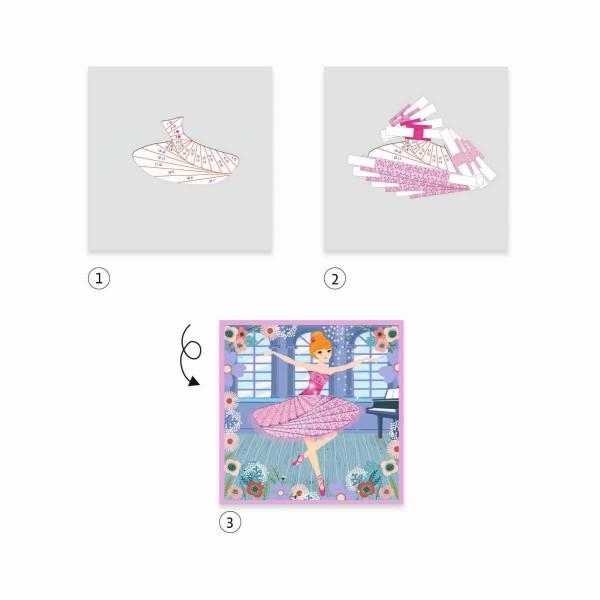 DJECO Papierkunst: Tänzer Spielzeug