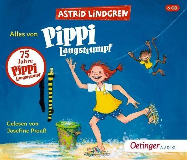 Oetinger Verlag Alles von Pippi Langstrumpf 6 Audio-CD Spielzeug