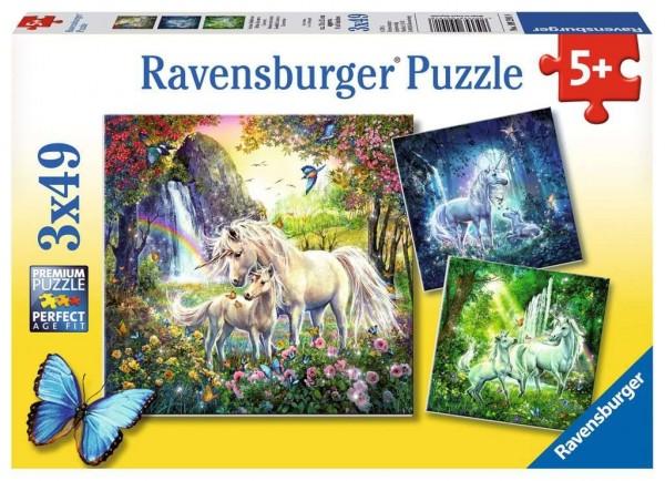 Ravensburger Schöne Einhörner Puzzle 3 X 49 teile Spielzeug