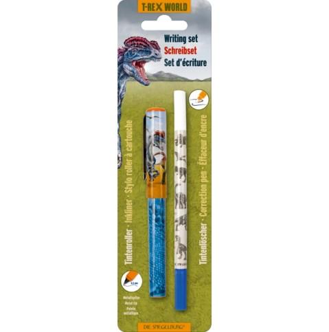 Die Spiegelburg Schreibset T-Rex World (Tintenroller+Tintenlöscher im Set) Spielzeug