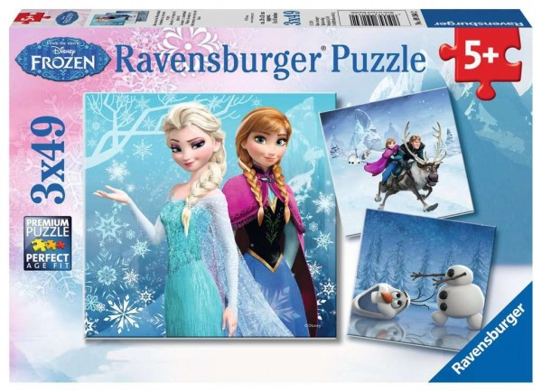 Ravensburger DFZ: Abenteuer im Winter Puzzle 3 X 49 Teile Spielzeug