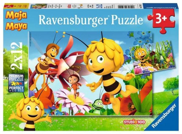 Ravensburger Biene Maja auf Blumewiese Puzzle2 X 12 Teile Spielzeug
