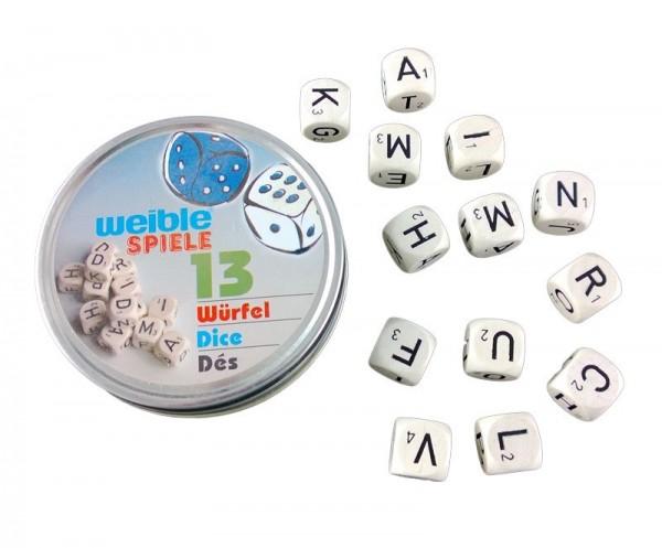 Weible KG 13 BuchstabenwÜrfel in Metall Spielzeug