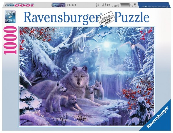 Ravensburger Puzzle Winterwölfe 1000 Teile Spielzeug